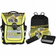 McNeill Ergo Pure Flex Mochila escolar con accesorios 4pcs. bulldozer