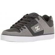 DC Men's Pure Tx Le Skateboarding Shoe, Grey, 7.5 D US