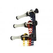 Łańcuszkowy system zawieszania teł na 3 tła