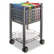 Sidekick File Cart, One-Shelf, 13 3/4w X 15 1/2d X 26 1/4h, Matte Gray