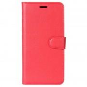 Bolsa Tipo Carteira Texturizada para Huawei Y7 - Vermelho