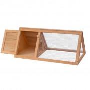 vidaXL Zvieracia klietka/králikáreň, drevená