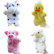 Merveilleux 4Pcs Glove Puppets Animal Hand For Kids Plush Toys Storytelling Game Props--Farm Animals