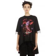 t-shirt hardcore donna - Frida Flowers - DISTURBIA - FKDM06