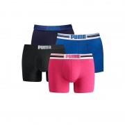 Puma boxershorts Placed Logo 4-pack Blauw/Pink-L