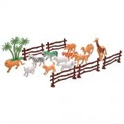 Toyzrin Animal Kingdom Wild Animals Figures Set for Kids - Medium (Pack of 12)