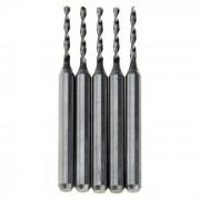 Mini taladros de taladro de aleacion de aluminio duro de 1.3mm - plata (5PCS)