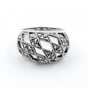 Inel Din Argint 925 Decorat Cu Marcasite