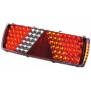 Lampa stop auto dreptunghiulara LED pentru partea dreapta - 6 functii Pozitie/Frana, Semnalizator, Ceata, Marsarier, Ochi pisica si semnalizator lateral - 24V