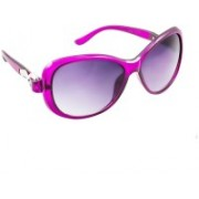 Creative India Exports Oval Sunglasses(Violet)