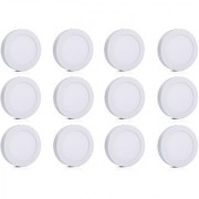 Bene LED 12w Round Surface Panel Ceiling Light Color of LED White (Pack of 12 Pcs)