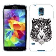 Husa Samsung Galaxy S5 Mini G800F Silicon Gel Tpu Model Tiger Abstract