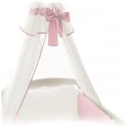 Baldachin pentru patut din voal Ceba Baby Roz