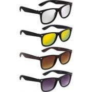 NuVew Wayfarer Sunglasses(Brown, Golden, Silver, Violet)
