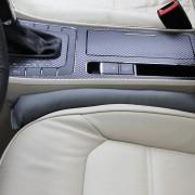 2 stuks lederen autostoel gap filler, afmeting: 45x7x4.5cm (grijs)