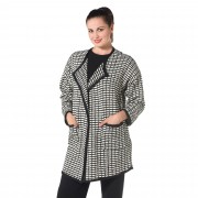 Mood Atelier Cappotto in maglia jacquard con effetto a rilievo