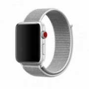 Curea pentru Apple Watch Bibilel compatibil cu dimensiunea 38mm Sport Band Textil Alb-Gri BBL619