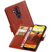 Zakelijke Bookstyle Hoesje voor Nokia 8.1 Bruin