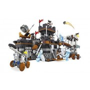 Ausini Knights Castle Battle Siege Tower Catapults Knights Attack Fortress Building Bricks 644pc Educational Blocks Set Compatible to Lego Parts - Great Gift for Children