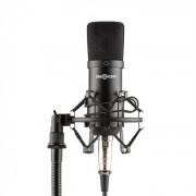 Mic-700 Microfone de Estúdio Ø34mm Uni Aranha Filtro Anti Pop XLR Preto