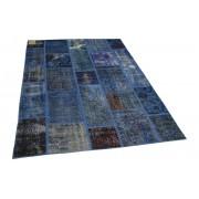 Rozenkelim patchwork vloerkleed blauw 230cm x 164cm