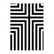 Covor Thistle 170x240cm alb/ negru