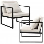 [en.casa]® Design fotelja - set od 2 komad - 70 x 60cm - boja pijeska