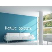 """""""Добре дошли"""" на гръцки"""