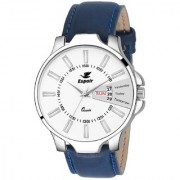Espoir Analogue White Dial Day and Date Men's Boy's Watch - OliverBlue0507