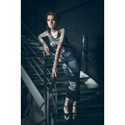 vestito donna KILLSTAR - Cobra - Digitale Nero