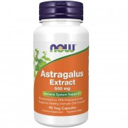 Now Foods Kozinec (Astragalus) Extract 500 mg 90 kapslí