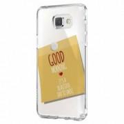 Husa Silicon Transparent Slim Sticker Good Morning Samsung Galaxy A5 2016