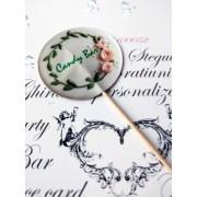 Topper Candy Bar 5cm Text verde