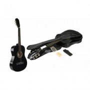Kids' Acoustic Guitar with Guitar Case, Strap, Tuner and String Set New (GPCT572) Black