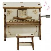Kangkang Kangkang@ DIY Wooden Music Box Hand Crank Birthday Holiday Party Present Children Gift Musical Toys caixa de musica muziek doosjes vintage
