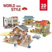 CubicFun-World Architectural House Building Model kits 3D Puzzle,Aisa Cities,W3190h 225 Pieces