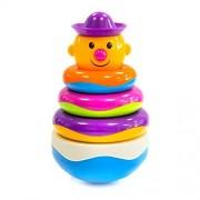 Baby Rocking Stack Development Toy - Wishland Funny Rainbow Stacking Ring Brilliant Basic Skill Development Toys for Kids