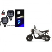 KunjZone Sqaure Aux Lamp/Fog Lamp White&Blue Drl Set Of 2 For Honda Navi