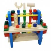 Banc de lucru din lemn pentru copii-Combines the tool
