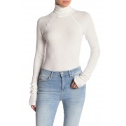 Free People All You Want Turtleneck Thermal Bodysuit IVORY
