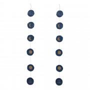 Kave Home Set Astrea guirnaldas fases luna fondo azul