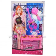 DJ Set Barbie Doll and Play set Fashions and Accessories Beautiful Dress Fashion Clothes For Barbie Doll Play House