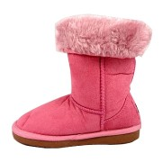 Cizme fetite stil UGG roz
