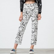 Lazy Oaf Drawn Out Jeans White/ Black