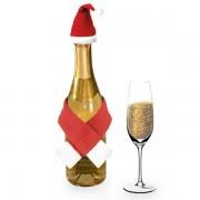 Ornament de Mos Craciun pentru sticla de vin
