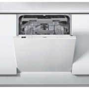 Masina de spalat vase Whirlpool WIC 3C23 PEF, Total incorporabila, 14 seturi, 6th Sense, 60 cm, 8 programe, Power Clean Pro, Clasa A++, Panel comanda alb