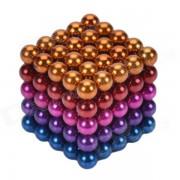 CHEERLINK BG-125 Set de juguetes educativos de 5 mm de neodimio DIY-multicolor (125 piezas)