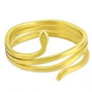 Matt, arany színű, kígyó formájú nemesacél gyűrű-7