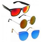 Vitoria Wayfarer, Round, Cat-eye Sunglasses(Multicolor)