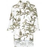 In Linea Oversized Bluse mit Blätterprint - Size: 36 38 40 42 44